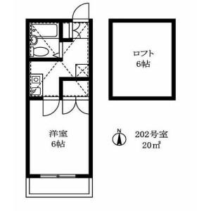 1K Apartment in Higashigaoka - Meguro-ku Floorplan