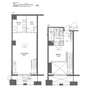 1SLDK Mansion in Higashishimbashi - Minato-ku Floorplan