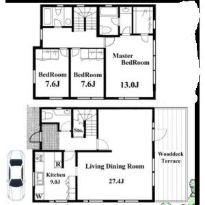 3LDK House in Denenchofu - Ota-ku Floorplan