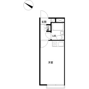 1R Apartment in Hinominami - Yokohama-shi Konan-ku Floorplan
