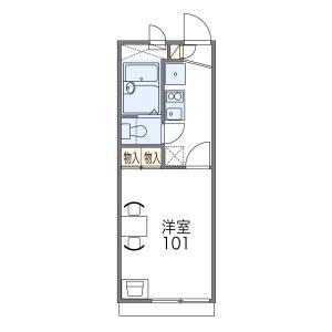 1K Apartment in Nasuzukuri kitamachi - Hirakata-shi Floorplan