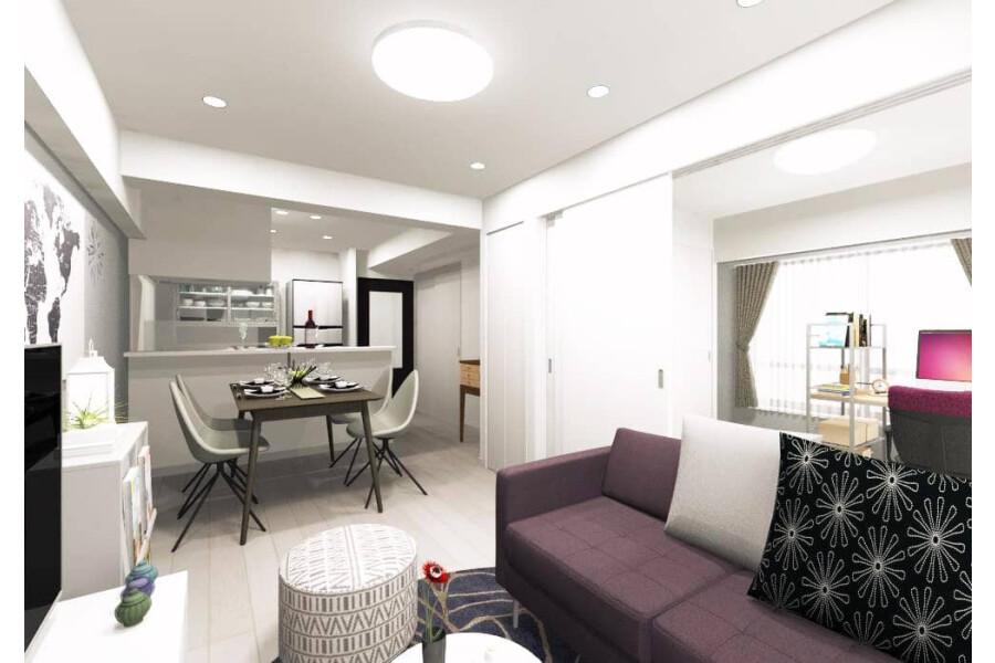 在板橋區購買2LDK 公寓大廈的房產 起居室