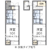1K Apartment to Rent in Kita-ku Floorplan