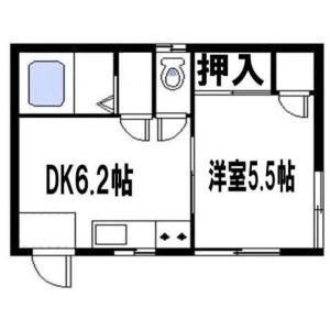 1DK Mansion in Takasago - Katsushika-ku Floorplan