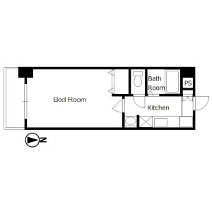 1K Mansion in Satakecho - Kyoto-shi Shimogyo-ku Floorplan