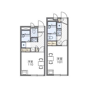 1K Apartment in Minamihatogaya - Kawaguchi-shi Floorplan