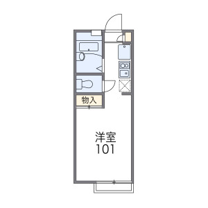 1K Apartment in Denenchofu - Ota-ku Floorplan