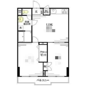 1DK Mansion in Dogenzaka - Shibuya-ku Floorplan