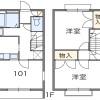 2DK Apartment to Rent in Fujisawa-shi Floorplan