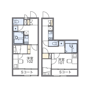 1K Apartment in Shiraoka - Shiraoka-shi Floorplan