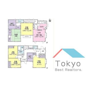 5SLDK House in Nakai - Shinjuku-ku Floorplan