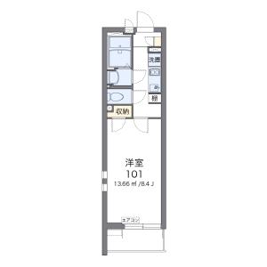 1K Mansion in Yayoicho - Tokorozawa-shi Floorplan