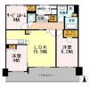 2SLDK Apartment to Rent in Osaka-shi Chuo-ku Floorplan