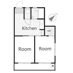 2DK Apartment in Chuo - Ota-ku Floorplan