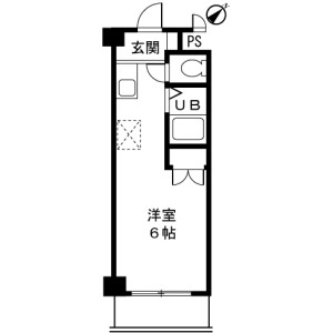 町田市三輪町-1K公寓大厦 楼层布局