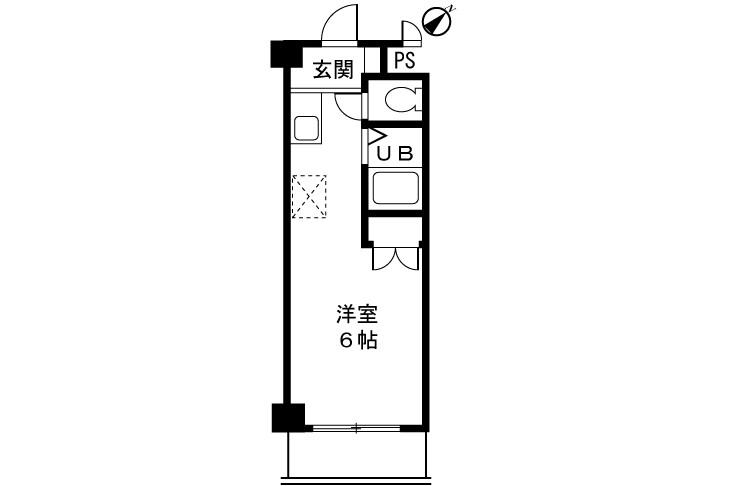 在町田市内租赁1K 公寓大厦 的 楼层布局