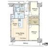 在横浜市西区购买2LDK 公寓大厦的 楼层布局