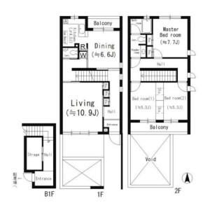 3LDK Mansion in Todoroki - Setagaya-ku Floorplan