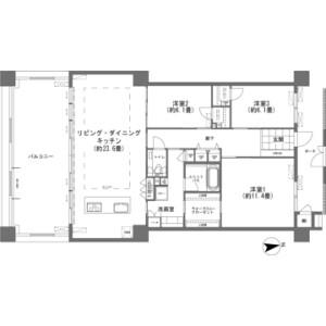 3LDK {building type} in Kishaba - Nakagami-gun Kitanakagusuku-son Floorplan