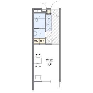 1K Mansion in Shibayama - Funabashi-shi Floorplan