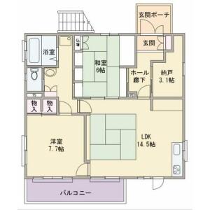 2SLDK House in Himonya - Meguro-ku Floorplan