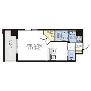 1R Mansion in Tomoi - Higashiosaka-shi Floorplan