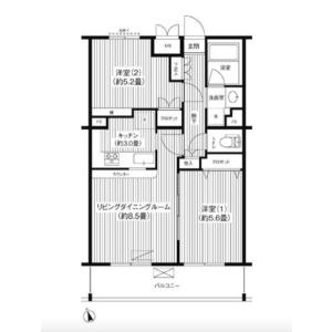 2LDK Mansion in Daita - Setagaya-ku Floorplan