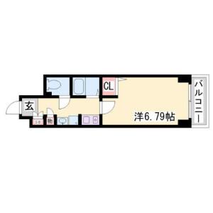 1K Mansion in Motomachidori - Kobe-shi Chuo-ku Floorplan
