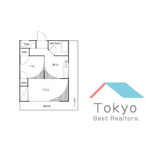 新宿區北新宿-2K公寓大廈 房間格局