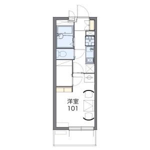 名古屋市北區黒川本通-1K公寓大廈 房間格局