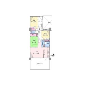 3LDK {building type} in Kaminomiya - Yokohama-shi Tsurumi-ku Floorplan