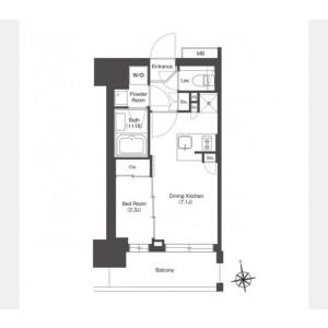 1DK Mansion in Yahiro - Sumida-ku Floorplan