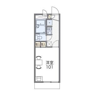 1K Apartment in Hannancho - Osaka-shi Abeno-ku Floorplan