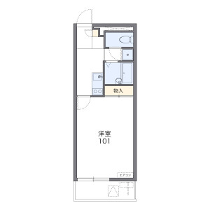 1K Mansion in Kashiyama - Habikino-shi Floorplan