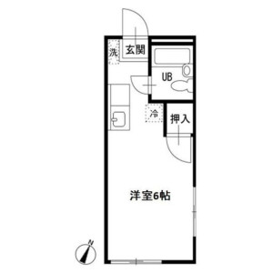 1R Apartment in Konandai - Yokohama-shi Konan-ku Floorplan