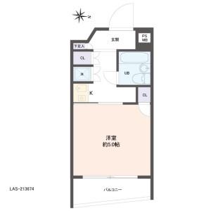 1K {building type} in Imado - Taito-ku Floorplan