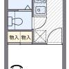 在江户川区内租赁1K 公寓 的 楼层布局