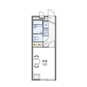 江户川区松江-1K公寓 楼层布局