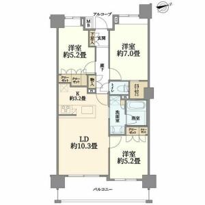 3LDK {building type} in Ogawacho - Yokosuka-shi Floorplan
