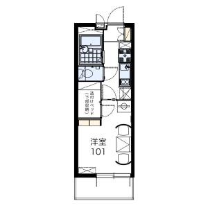 1K Mansion in Chayama - Fukuoka-shi Jonan-ku Floorplan