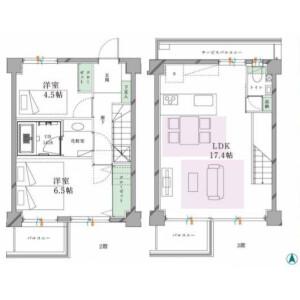 2LDK {building type} in Midorigaoka - Meguro-ku Floorplan