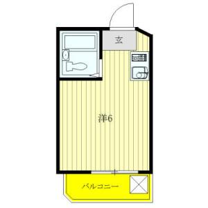 1R Mansion in Tomigaya - Shibuya-ku Floorplan