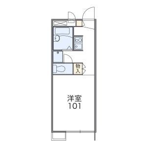 1K Apartment in Kokuryocho - Chofu-shi Floorplan