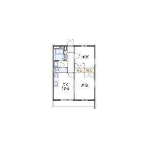 2DK Apartment in Komuro - Kitaadachi-gun Ina-machi Floorplan