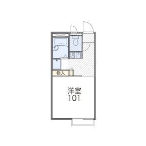 1K Apartment in Tobitakyu - Chofu-shi Floorplan