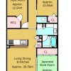 3LDK Apartment to Buy in Kyoto-shi Shimogyo-ku Floorplan