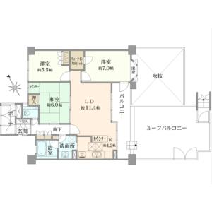 3LDK {building type} in Nogayamachi - Machida-shi Floorplan