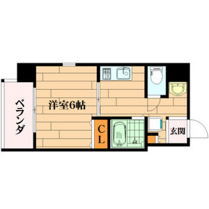 1K Mansion in Shimodera - Osaka-shi Naniwa-ku Floorplan