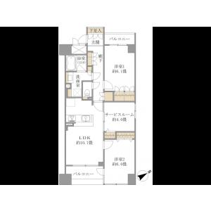 2SLDK {building type} in Kamiuma - Setagaya-ku Floorplan