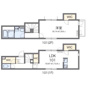 1LDK Mansion in Kamata - Setagaya-ku Floorplan